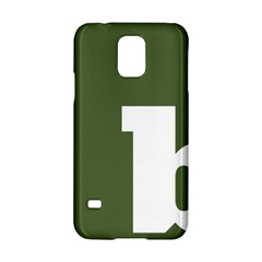 Square Alphabet Green White Sign Samsung Galaxy S5 Hardshell Case  by Alisyart