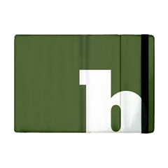 Square Alphabet Green White Sign Ipad Mini 2 Flip Cases by Alisyart