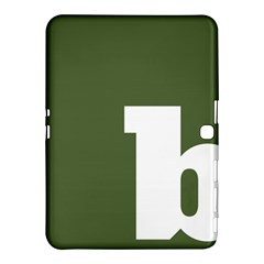 Square Alphabet Green White Sign Samsung Galaxy Tab 4 (10 1 ) Hardshell Case  by Alisyart