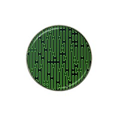 Pipes Green Light Circle Hat Clip Ball Marker (4 Pack) by Alisyart