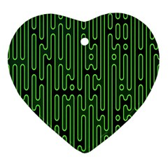 Pipes Green Light Circle Heart Ornament (two Sides) by Alisyart