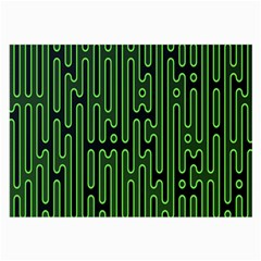 Pipes Green Light Circle Large Glasses Cloth by Alisyart