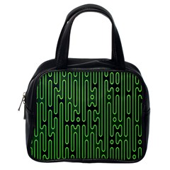 Pipes Green Light Circle Classic Handbags (one Side) by Alisyart