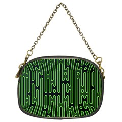 Pipes Green Light Circle Chain Purses (one Side)  by Alisyart