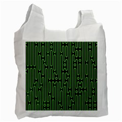 Pipes Green Light Circle Recycle Bag (one Side)