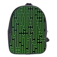 Pipes Green Light Circle School Bags(large)