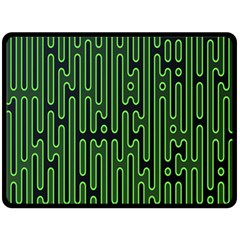 Pipes Green Light Circle Fleece Blanket (large)  by Alisyart