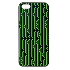 Pipes Green Light Circle Apple Iphone 5 Seamless Case (black)