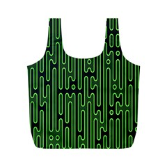 Pipes Green Light Circle Full Print Recycle Bags (m)  by Alisyart