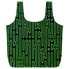 Pipes Green Light Circle Full Print Recycle Bags (l)  by Alisyart
