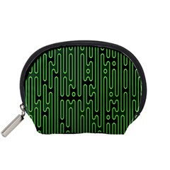 Pipes Green Light Circle Accessory Pouches (small)  by Alisyart