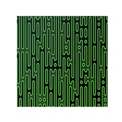 Pipes Green Light Circle Small Satin Scarf (square)