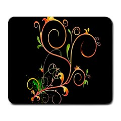 Flowers Neon Color Large Mousepads by Simbadda