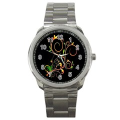 Flowers Neon Color Sport Metal Watch by Simbadda