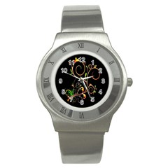 Flowers Neon Color Stainless Steel Watch by Simbadda