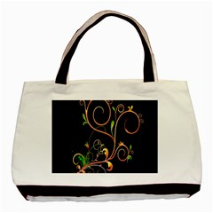 Flowers Neon Color Basic Tote Bag by Simbadda