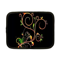 Flowers Neon Color Netbook Case (small)  by Simbadda