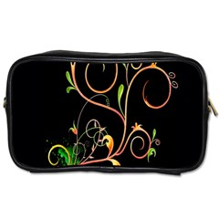 Flowers Neon Color Toiletries Bags by Simbadda