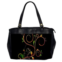 Flowers Neon Color Office Handbags by Simbadda