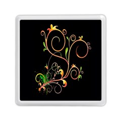 Flowers Neon Color Memory Card Reader (square)