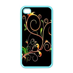 Flowers Neon Color Apple Iphone 4 Case (color) by Simbadda