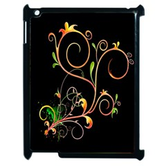 Flowers Neon Color Apple Ipad 2 Case (black) by Simbadda