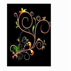 Flowers Neon Color Large Garden Flag (two Sides) by Simbadda