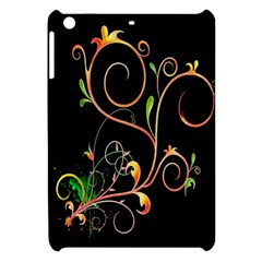 Flowers Neon Color Apple Ipad Mini Hardshell Case by Simbadda