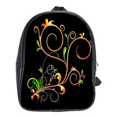 Flowers Neon Color School Bags (xl)  by Simbadda