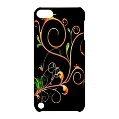Flowers Neon Color Apple Ipod Touch 5 Hardshell Case With Stand by Simbadda