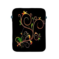Flowers Neon Color Apple Ipad 2/3/4 Protective Soft Cases by Simbadda