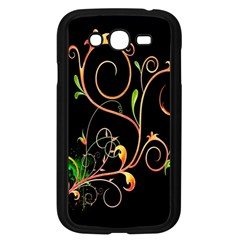 Flowers Neon Color Samsung Galaxy Grand Duos I9082 Case (black) by Simbadda