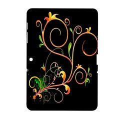 Flowers Neon Color Samsung Galaxy Tab 2 (10 1 ) P5100 Hardshell Case  by Simbadda