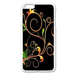 Flowers Neon Color Apple Iphone 6 Plus/6s Plus Enamel White Case
