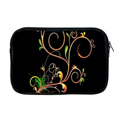 Flowers Neon Color Apple Macbook Pro 17  Zipper Case by Simbadda
