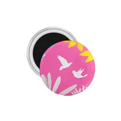 Spring Flower Floral Sunflower Bird Animals White Yellow Pink Blue 1 75  Magnets by Alisyart