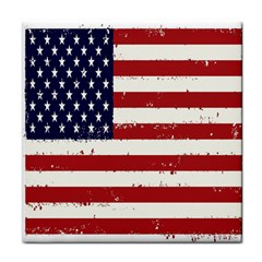 Flag United States United States Of America Stripes Red White Tile Coasters by Simbadda