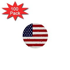 Flag United States United States Of America Stripes Red White 1  Mini Buttons (100 Pack)