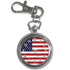 Flag United States United States Of America Stripes Red White Key Chain Watches by Simbadda