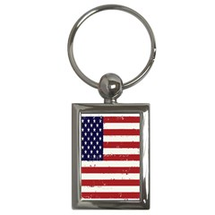 Flag United States United States Of America Stripes Red White Key Chains (rectangle)  by Simbadda