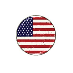 Flag United States United States Of America Stripes Red White Hat Clip Ball Marker by Simbadda