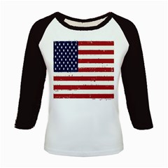 Flag United States United States Of America Stripes Red White Kids Baseball Jerseys by Simbadda