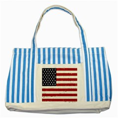 Flag United States United States Of America Stripes Red White Striped Blue Tote Bag by Simbadda