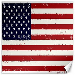 Flag United States United States Of America Stripes Red White Canvas 20  X 20   by Simbadda