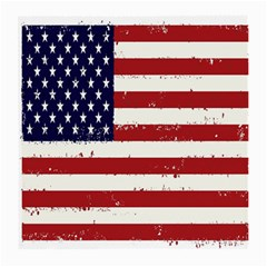 Flag United States United States Of America Stripes Red White Medium Glasses Cloth by Simbadda