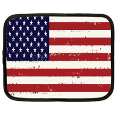 Flag United States United States Of America Stripes Red White Netbook Case (large) by Simbadda