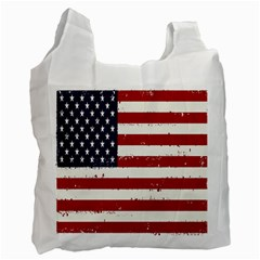 Flag United States United States Of America Stripes Red White Recycle Bag (two Side)  by Simbadda