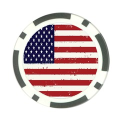 Flag United States United States Of America Stripes Red White Poker Chip Card Guard (10 Pack) by Simbadda