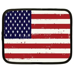 Flag United States United States Of America Stripes Red White Netbook Case (xxl)