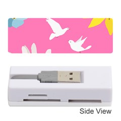 Spring Flower Floral Sunflower Bird Animals White Yellow Pink Blue Memory Card Reader (stick)